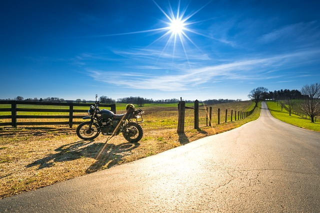 motorcycle on a dirt road